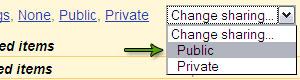 Select Public in Drop Down Menu