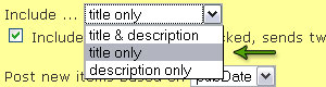 Select title only from drop down menu