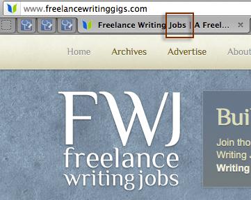 Mention blog name