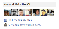 Facebook friends who like a page