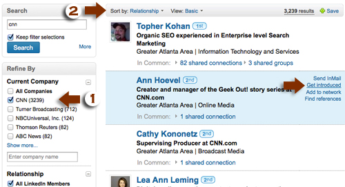 Media connections at LinkedIn