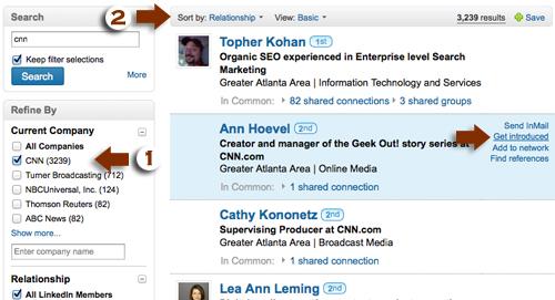 Media connections at LinkedIn