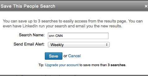 Linkedin alerts