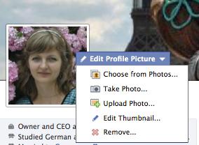Change profile picture - Facebook