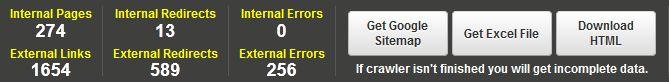 google sitemap generator and find broken links