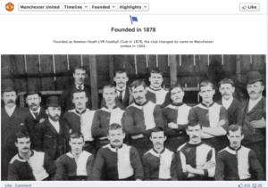 Manchester United historical photo