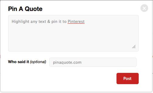 """Pin It"" Bookmarklet"