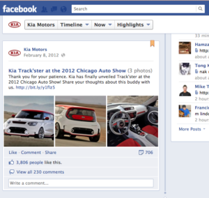Facebook allows specified posts to be more prominent in the timeline