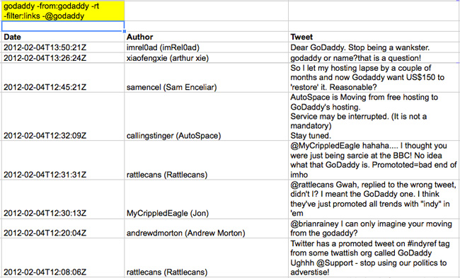 How To Search Twitter From Google Spreadsheets And Excel