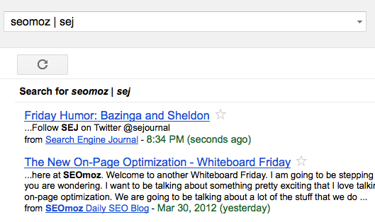 Google Reader search