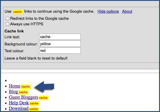Google Cache Continue Redux