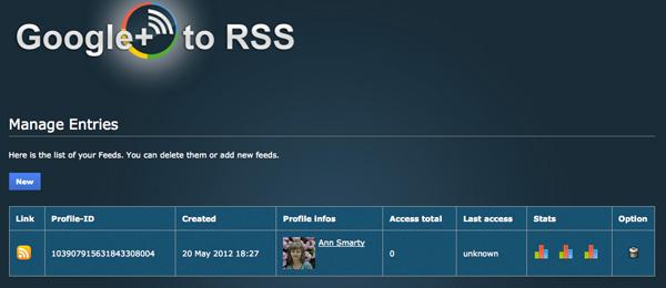 Google Plus RSSed