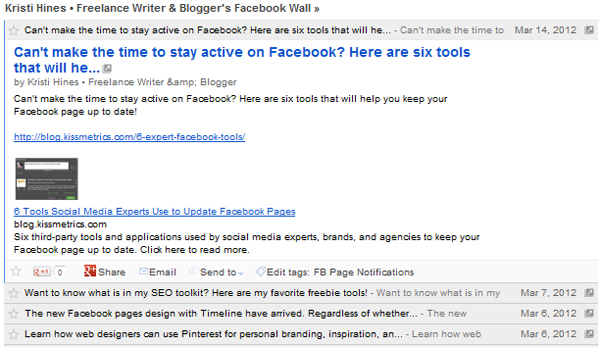 Facebook Page RSSed