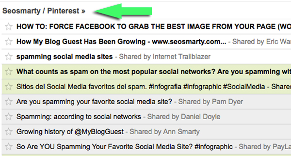 Pinterest RSSed