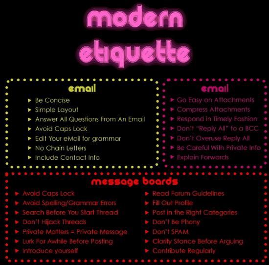 Examples of internet etiquette  7 Rules for Online Etiquette