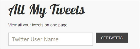 All My Tweets