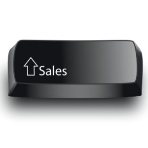 "Button with a ""sales"" label"