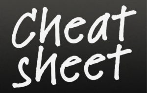 google chearsheets