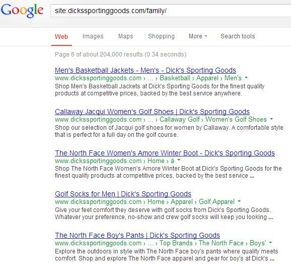 Google Site Colon Dicks Sproting Goods