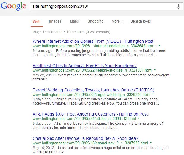 Google Site Colon Huffington Post
