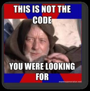 Not the Code Meme