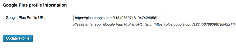 Google Plus Authorship Plugin
