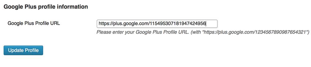 Google Plus Authorship Plugin