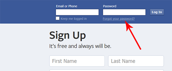 How to get your facebook password when you forgot it