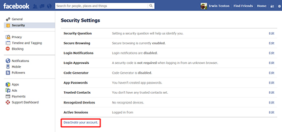How to delete an old facebook account online reputation clean up deleting the account ccuart Gallery