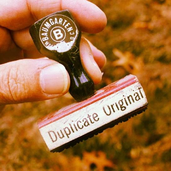 Duplicate Original