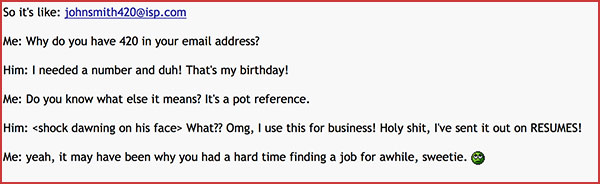 Email address funny story