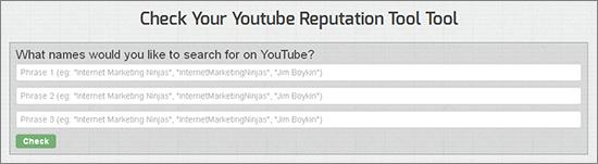 YouTube Reputation Tool