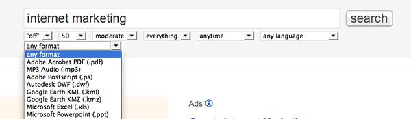 NoCrap Google Search Bar