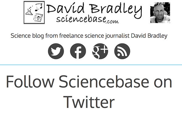 Follow Sciencebase on Twitter page