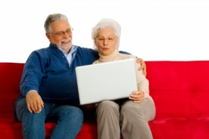 Older couple with laptop