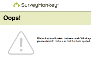 SurveyMonkey used  404 pages for testing  Google's functioning.