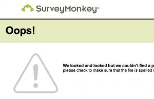SurveyMonkey used  404 pages for testing  Google's functioning.