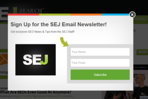 Search engine journal subscribe box