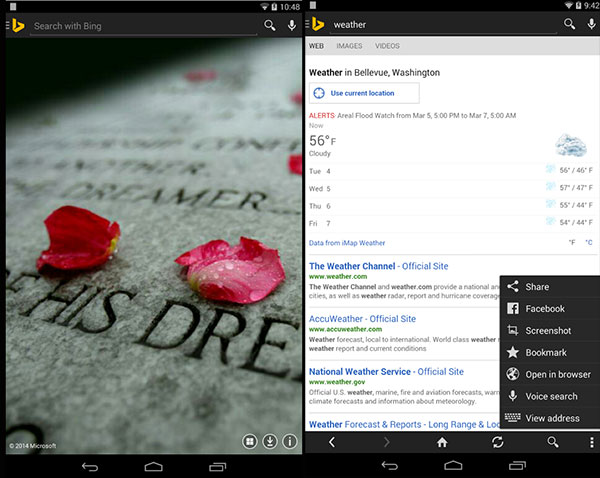 Bing On Android