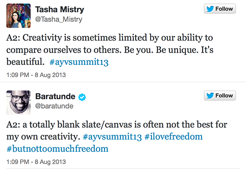 Adobe creativity conference hosted on Twitter