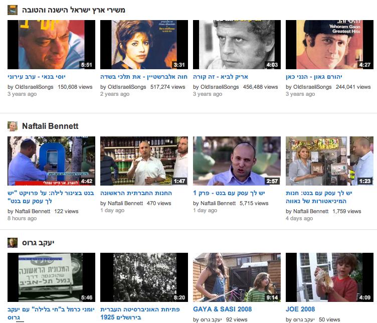 Youtube using a Pinterest-style layout