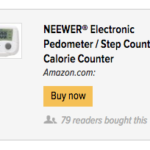 Affiliate ads for Amazon (or perhaps a direct media buy) integrate customized social proof. Here, a publisher displays an ad with the mention that other readers of the site bought the product.
