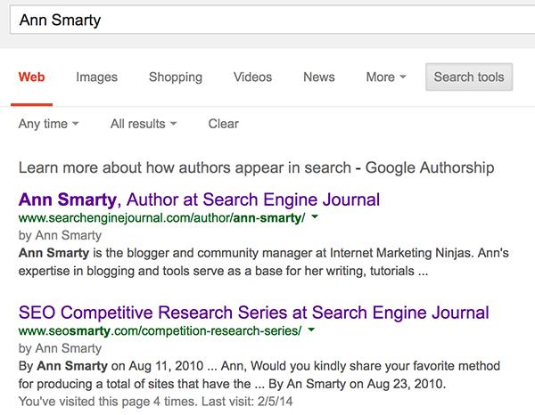 Google Plus author