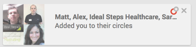 Who added you to circles