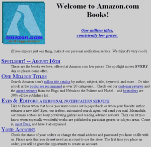Old Amazon site