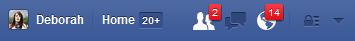 Facebook Notifications Area