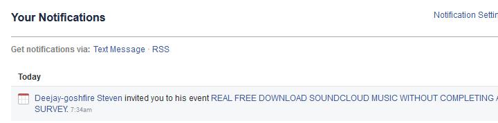 "Facebook ""To Do"" list."