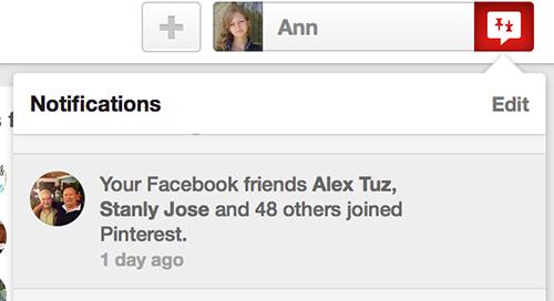 When your facebook friends join Pinterest