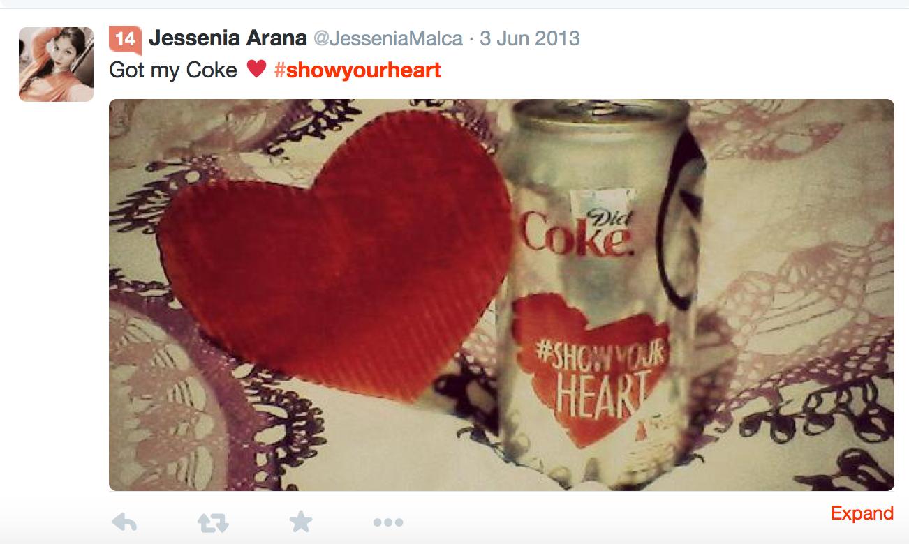 Diet Coke #ShowYourHeart Campaign