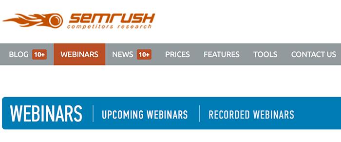 SEMrush Webinars